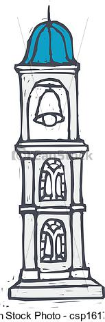 Bell Tower Clipart.