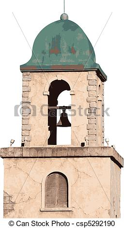 Bell Tower Clip Art.
