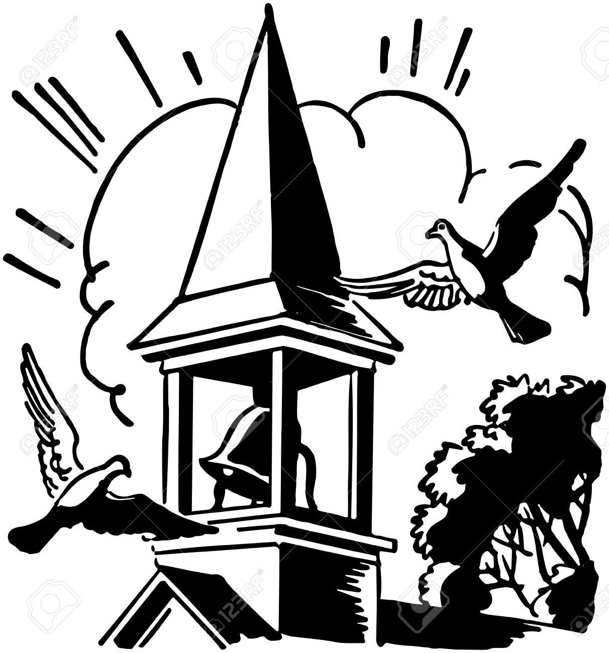 Church bell ringing clipart.