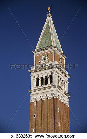 Stock Image of Campanile bell tower, close.