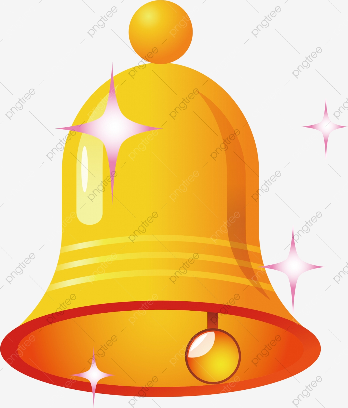 Bell Png Vector Element, Bells Vector, Gold, Flash PNG and Vector.