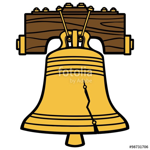"""Liberty Bell Symbol"""" Stock image and royalty."""