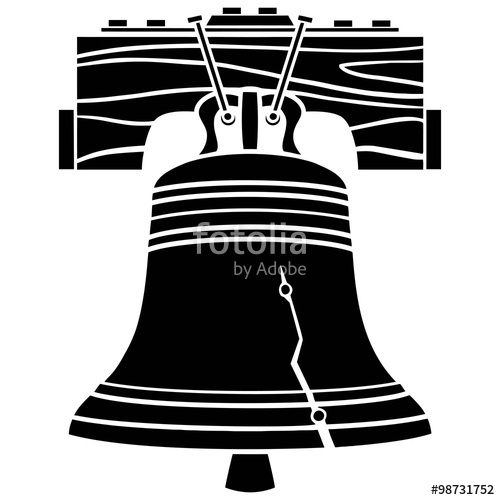 "Liberty Bell Symbol"" Stock image and royalty."
