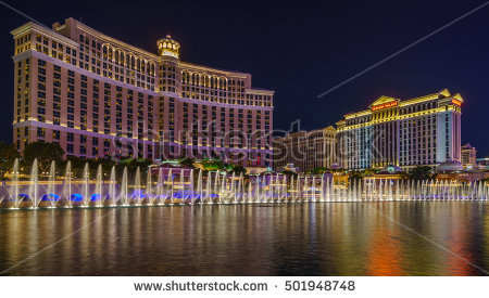 Bellagio Fountains Stock Photos, Royalty.