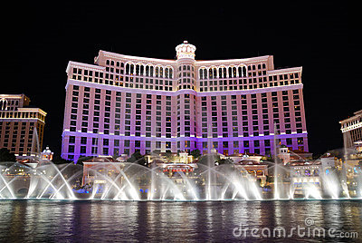 Bellagio Fountain Show, Las Vegas Editorial Image.