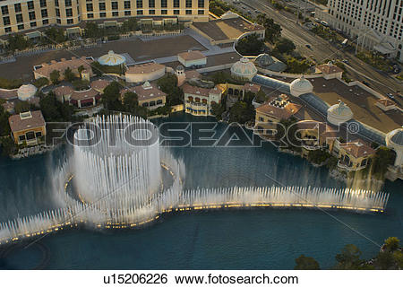 Stock Images of below, water, show, bellagio, fountain u15206226.