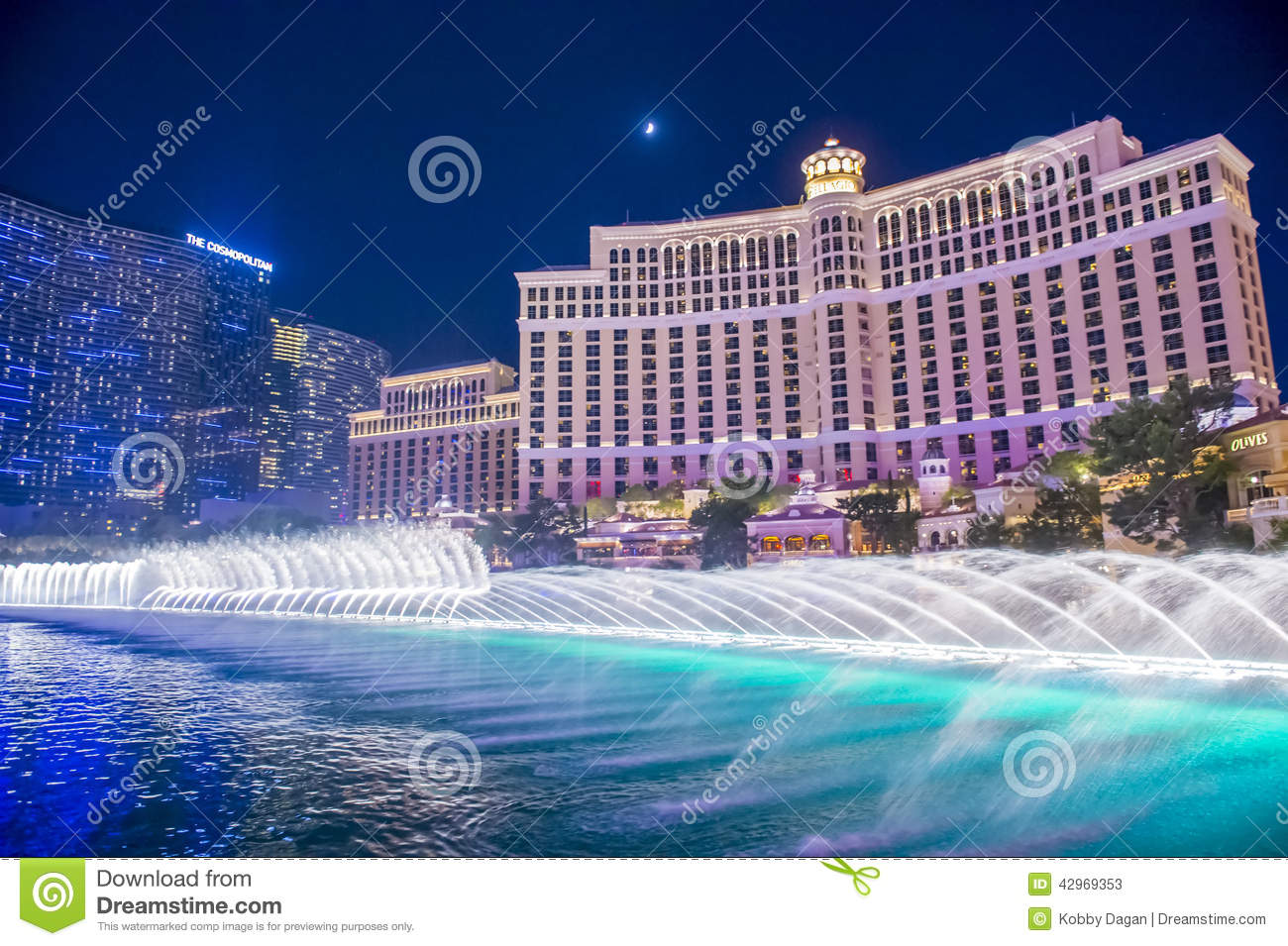 Las Vegas , Bellagio Fountains Editorial Stock Photo.
