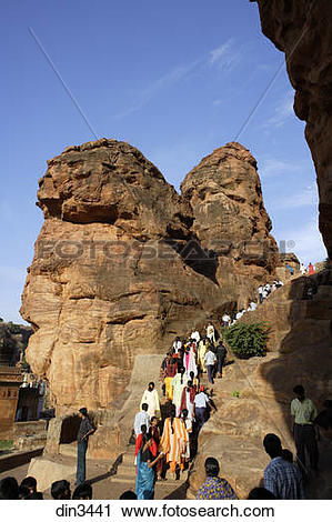 Stock Photography of Badami ; Chalukya ; Caves 575 A.D..