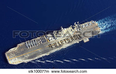 Stock Photo of At sea with USS Belleau Wood. stk100077m.