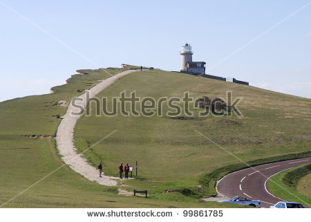 Chalk Cliffs At Beachy Head Near Eastbourne. East Sussex. England.