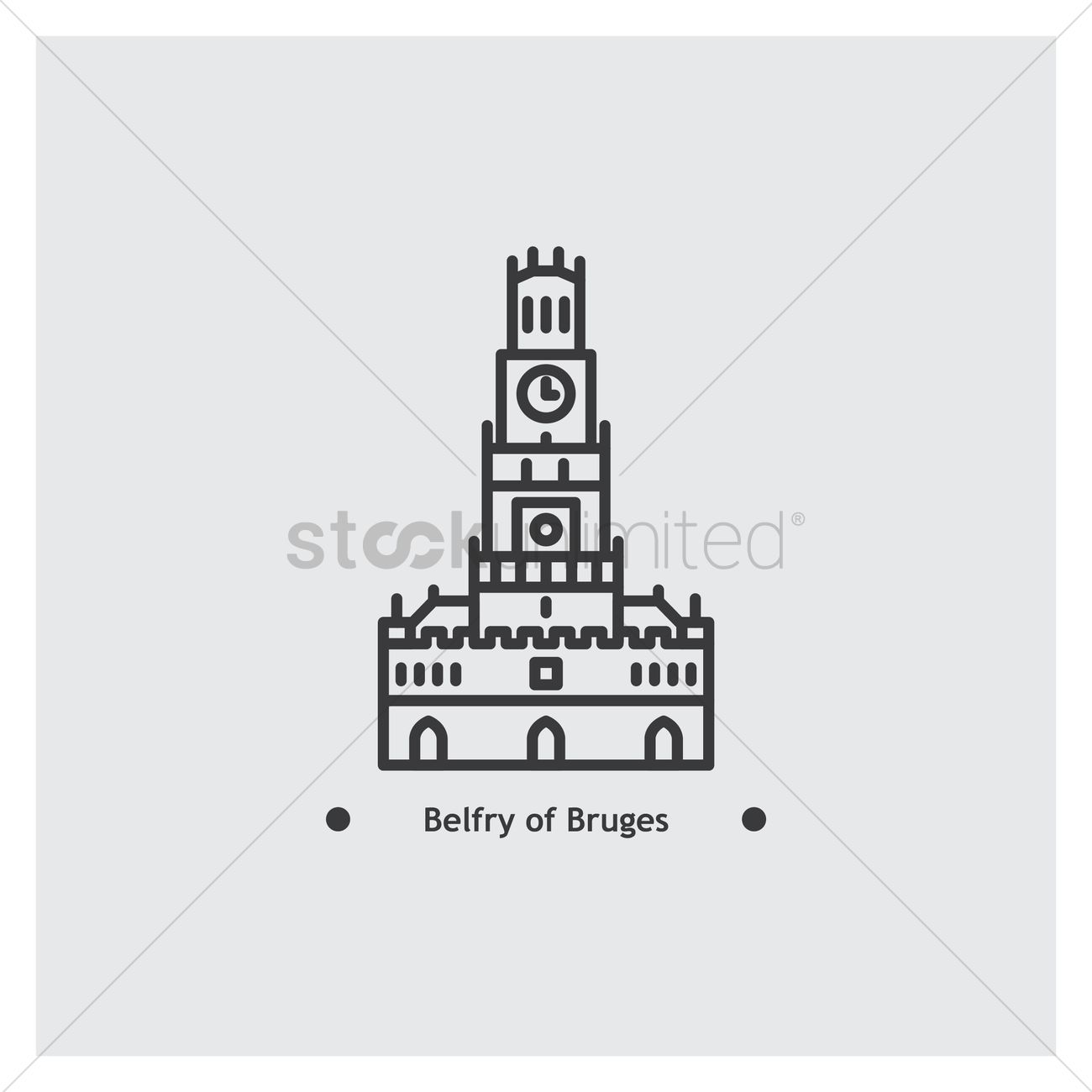 Belfry of bruges Vector Image.