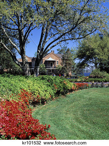 Stock Photo of Bellingrath Gardens Near Mobile Alabama kr101532.