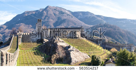 Bellinzona Stock Images, Royalty.