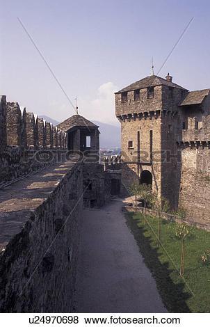 Pictures of castle, Switzerland, Ticino, Bellinzona, Castello di.