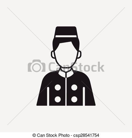 Clipart Vector of hotel bellman icon csp28541754.