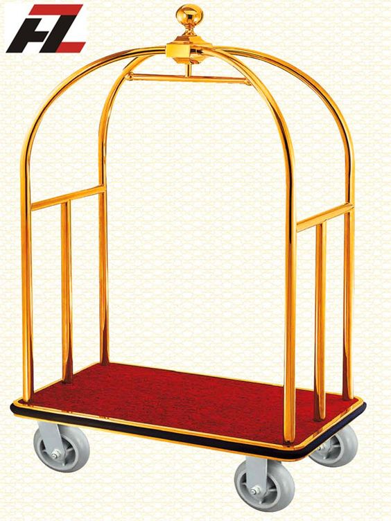 Classic Ball Finial Luggage Carts.