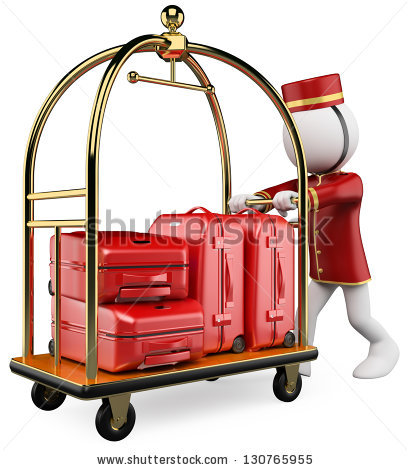 Luggage Cart Stock Photos, Royalty.