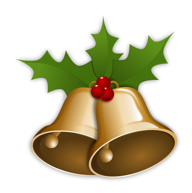 Free to Use Public Domain Christmas Bells Clip Art.