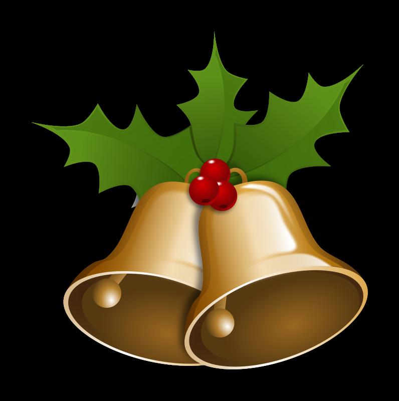 Christmas bell clipart #2