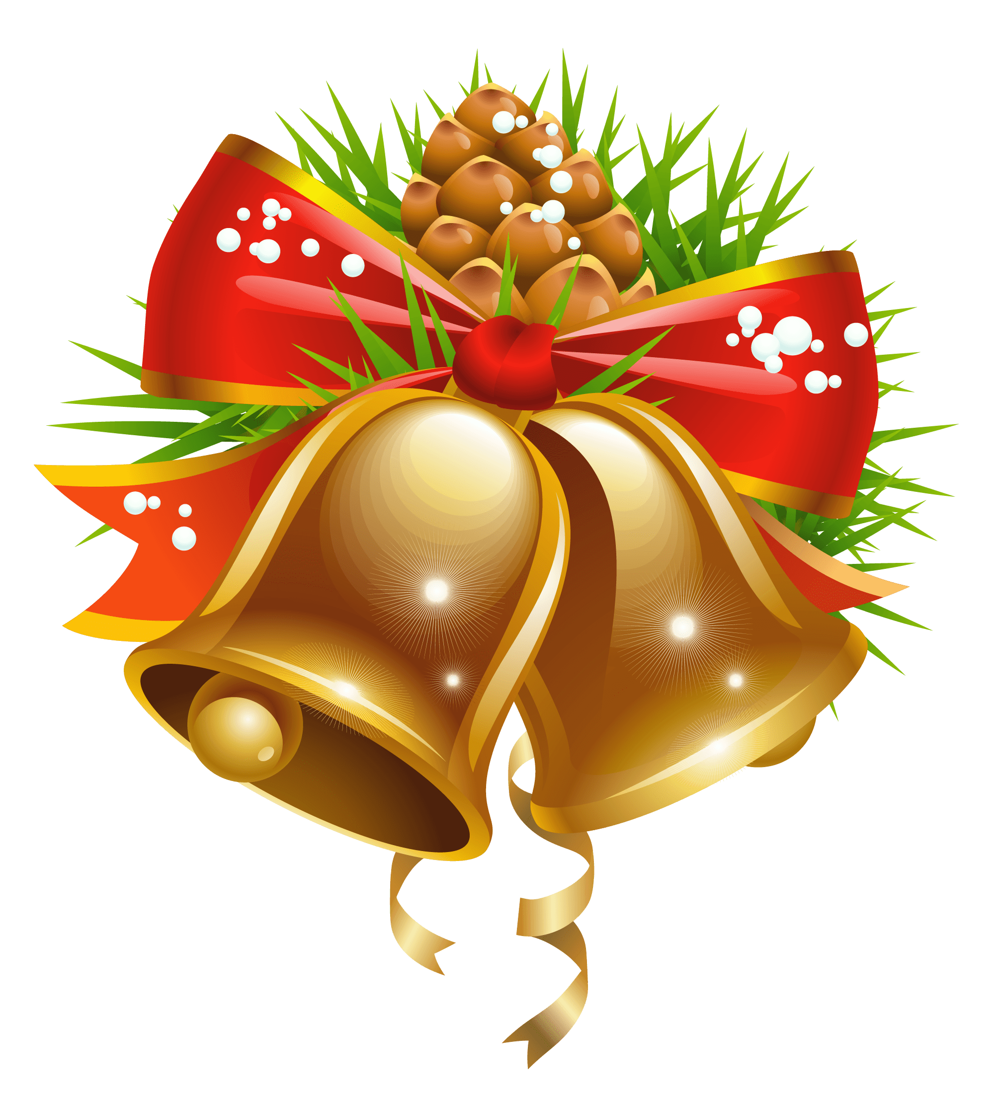 Bell Christmas Decoration transparent PNG.