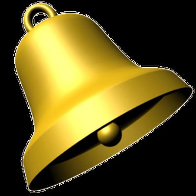 Bell Gold transparent PNG.