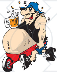 Beer Belly Clipart.