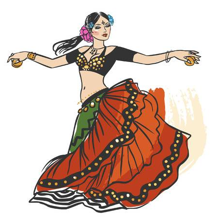 1,340 Belly Dancer Stock Illustrations, Cliparts And Royalty Free.