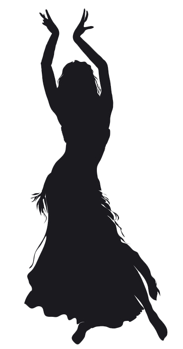 Belly dance Silhouette.
