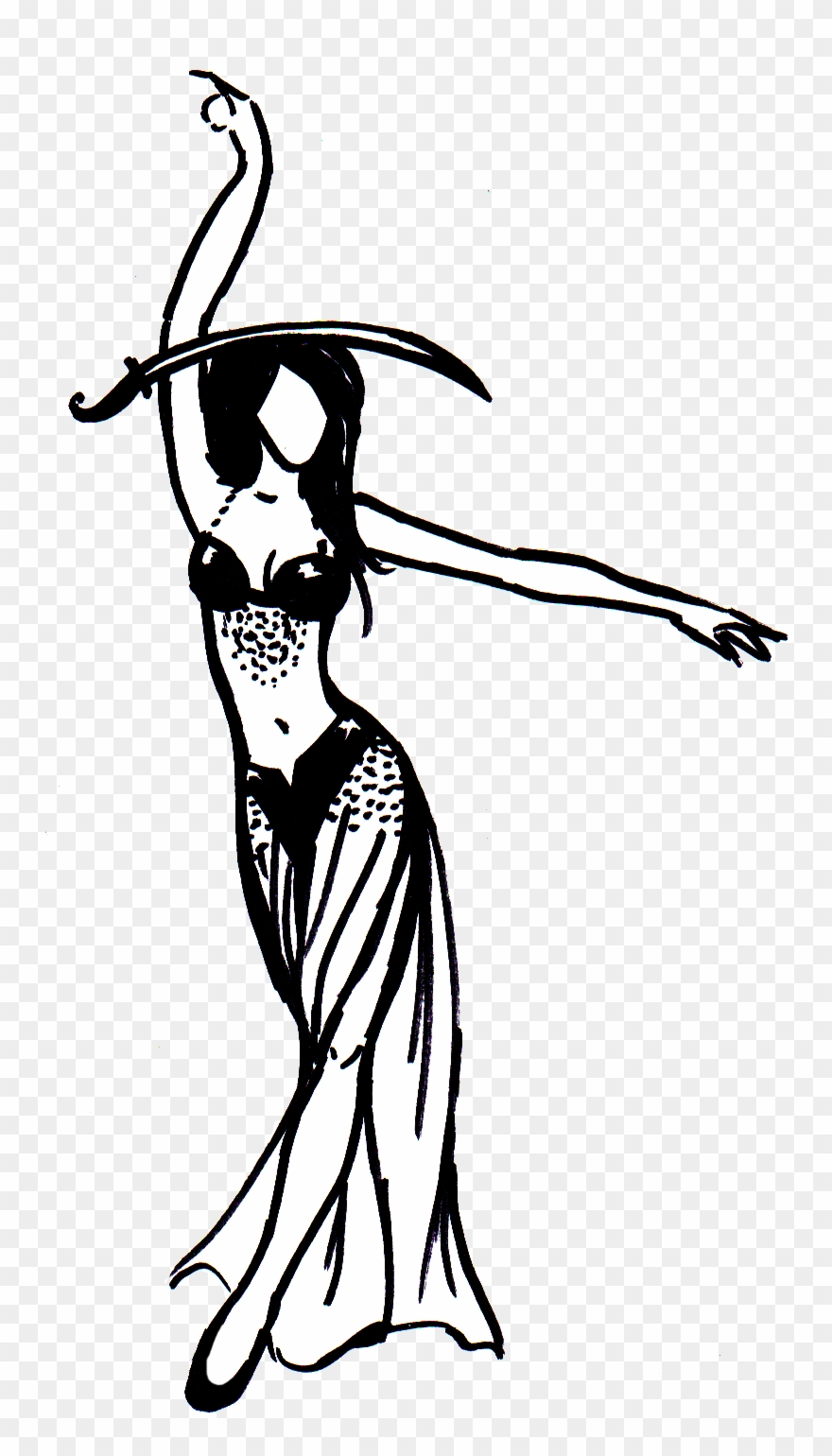 Silueta Belly Dance Png Clipart (#2084446).