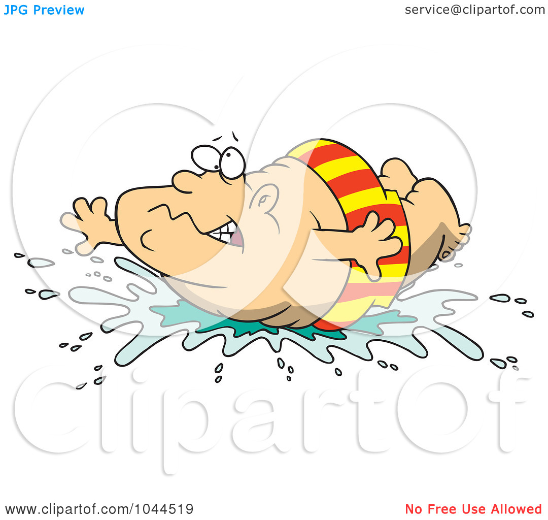 Funny Belly Flop Clipart.