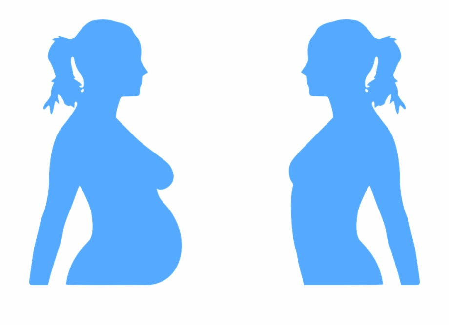 Pregnancy Pregnant Woman Baby Blue Belly.