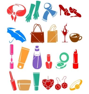 Womans belongings vector by nurrka.