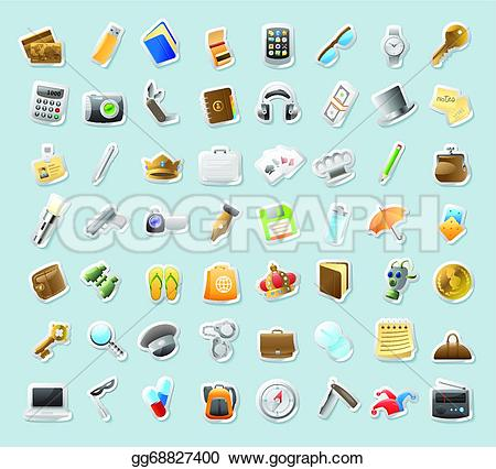 Personal Belongings Clip Art.
