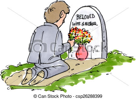 Stock Illustration of Beloved lost.