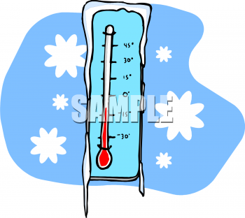 Clipart thermometer below zero, Clipart thermometer below.