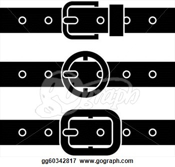 Santa Belt Buckle Clipart.