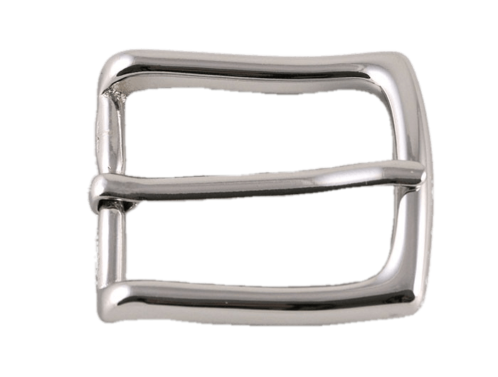 Shiny Silver Belt Buckle transparent PNG.