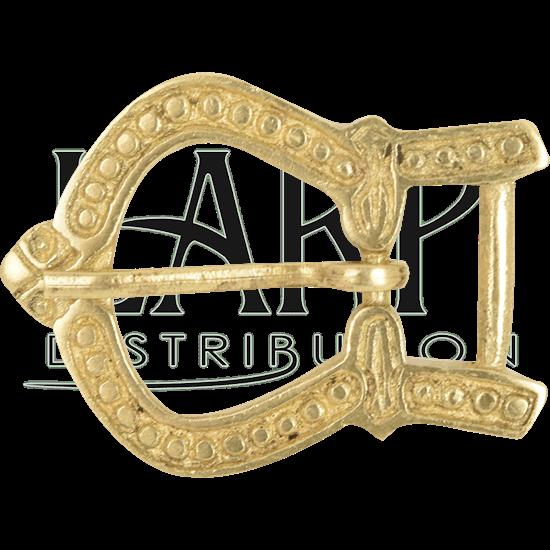 Ornate Brass Belt Buckle.