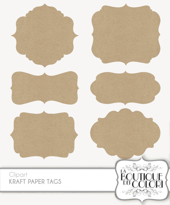 Clip Art Kraft paper Frames Labels tags Digital Frames Digital.
