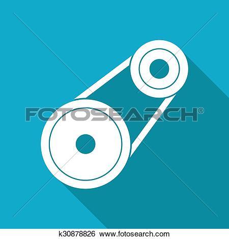 Clip Art of belt drive k30878826.