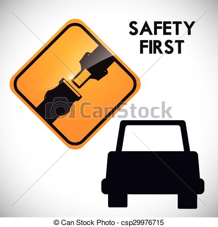 Vector Clip Art of Drive Safety.