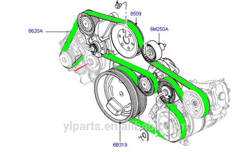 Aliexpress.com : Buy LR022803 hot sale auto primary drive belt for.