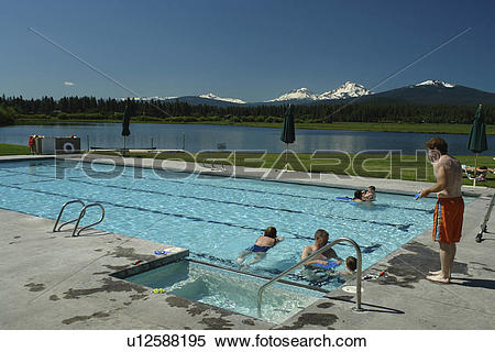 Stock Image of Three Sisters, OR, Oregon, Black Butte Ranch.