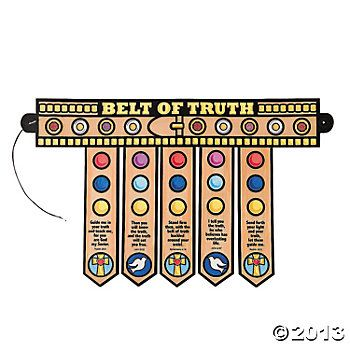 paper belt of truth craft from Oriental Trading.