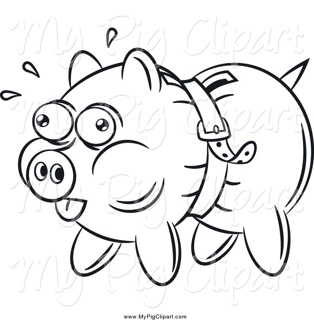 Royalty Free Coloring Sheet Stock Pig Designs.