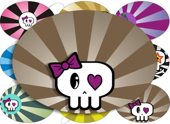 New cute skulls images large oval for belt buckle and more digital.