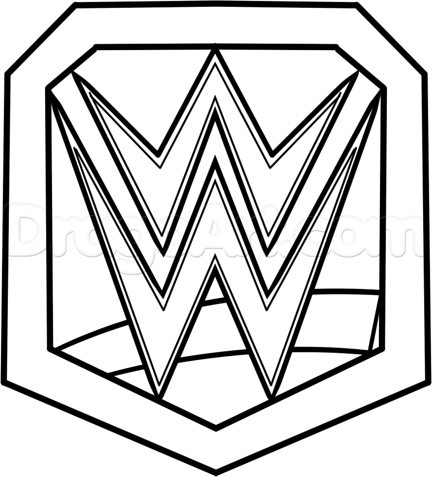 Draw WWE Championship Belt, Step by Step, Drawing Sheets, Added by.
