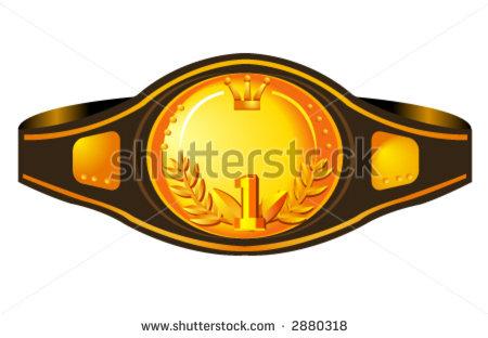 Pro Wrestling Belt Clipart.