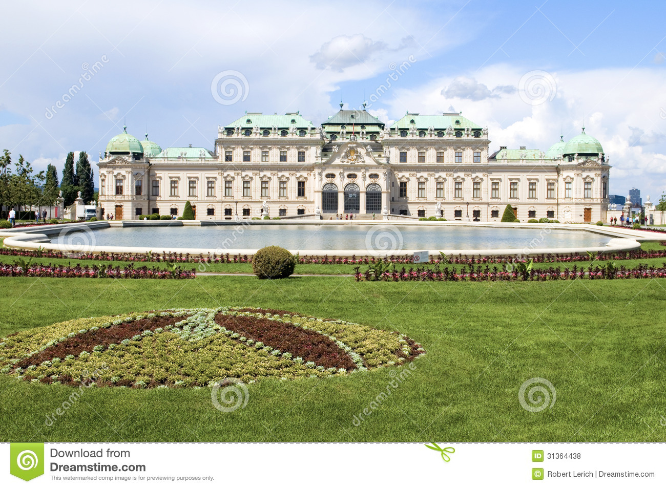 Belvedere Palace Clip Art.