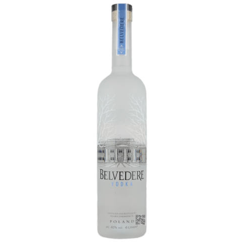 Belvedere Vodka Bottle transparent PNG.
